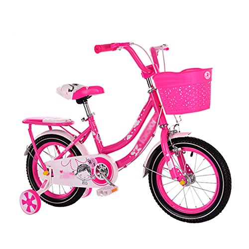 BaoKangShop Bicicletas Bicicletas para Niños 2-8 Años Cochecito de bebé con Rueda Auxiliar Bicicleta (Color : Red, Size : 14 Inches)