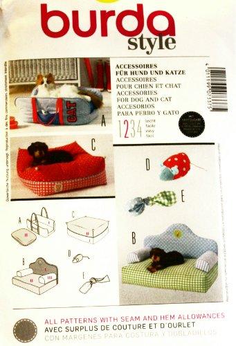 Burda Schnittmuster 7337 Accessoires für Hund & Katze