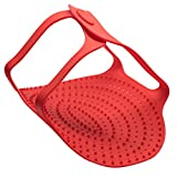 BonBon Heat Resistant Non-Stick Silicone Turkey Meat Lifter Oven Chicken Baking Mat Pan Roast (Red)