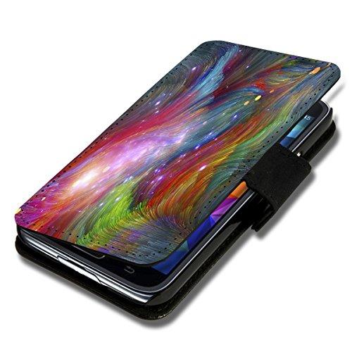 Book Style Flip Handy Tasche Hülle Schutz Hülle Foto Schale Motiv Etui für LG L Bello - A52 Design2