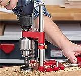 The Better Woodworkers Drill Locator - Localizador de precisión ajustable y fácil de usar para carpintería, herramienta de carpintería, para proyectos de carpintería, regalos para padres y maridos