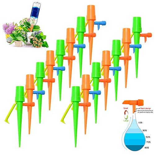 YUQIN Bewässerungssystem 15 Stück Automatisch Bewässerung Set Instellbar Einfaches Zum Gießen mit Steuerventilschalter für Topfpflanzen Passend für die meisten Flaschen (15)