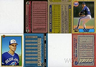 Rare Lot of Nine (9) Different Vintage Topps Nolan Ryan Error CardS from 1987-1992 HOF