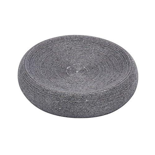 WENKO 21717100 Seifenablage Goa Grau - Seifenschale, Polyresin, 12.8 x 3.1 x 12.8 cm, Grau