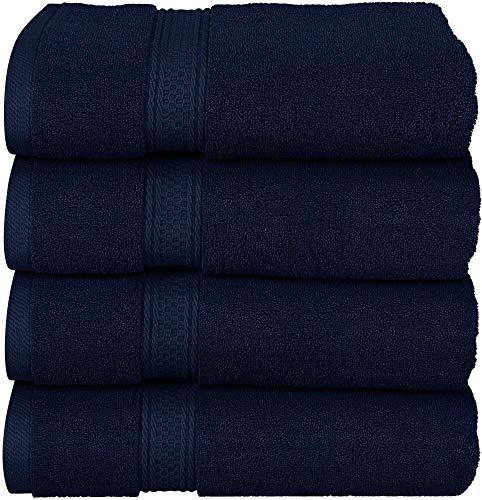 Utopia Towels - Set Asciugamani da Bagno 600 gsm (69 x 137 cm) - Asciugamani in Cotone per Hotel e Spa, Massima Morbidezza e assorbenza (4 Pezzi) (Blu Marino)