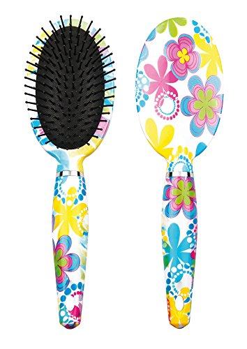 Titania Brosse à cheveux ronde, fleurs Tête, poils en plastique avec tête ovale peau schützenden Têtes, 1er Pack (1 x 99 g)