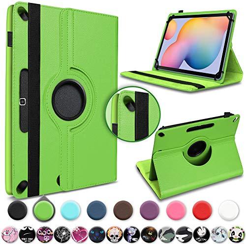 UC-Express Tablet Hülle kompatibel für Samsung Galaxy Tab S7 Tasche Schutzhülle 11 Zoll Cover Schutz Case 360 Drehbar Klapphülle, Farben:Grün