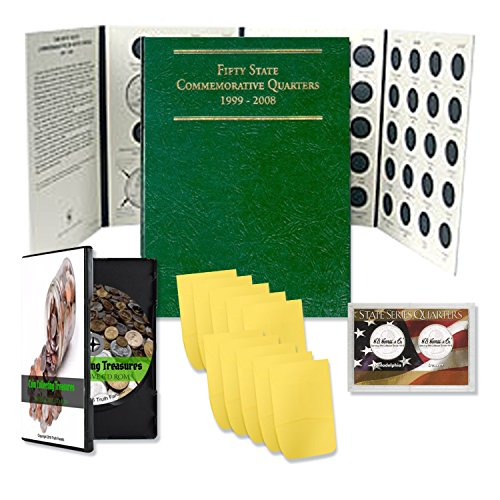Truth Fanatic Coin Collecting Starter Kit – Includes Coin Collection Treasures Interactive CD ROM, State Park Quarters…