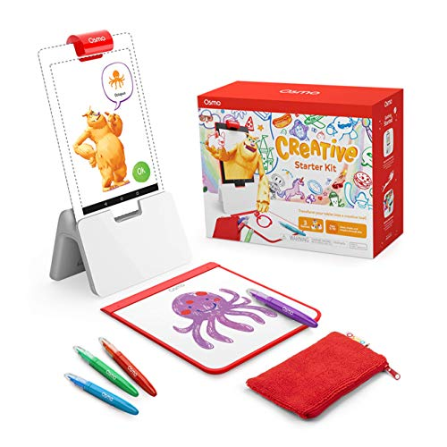Osmo - Creative Starter Kit for Fire Tablet - Ages 5-10 - Creative Drawing & Problem Solving/Early Physics - STEM Fire Tablet Base Included