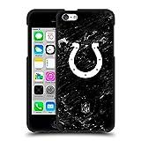 Head Case Designs Licenciado Oficialmente NFL Mármol Indianapolis Colts Artwork Funda de Gel Negro Compatible con Apple iPhone 5c