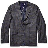 Cole Haan Men's Slim Fit Blazer, Blue/Olive Plaid, 40R