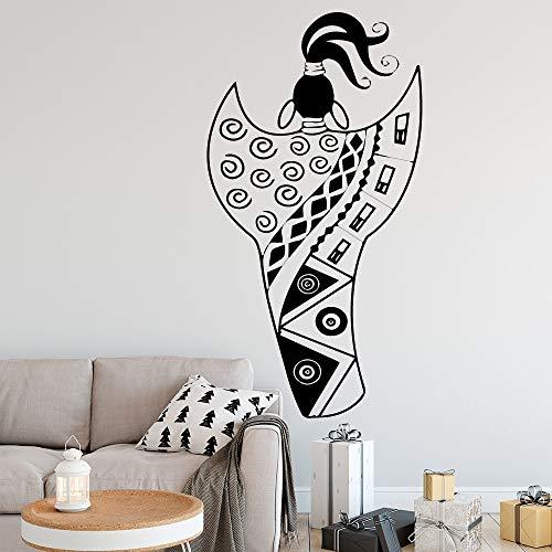 Tianpengyuanshuai Japanse vrouw muursticker decoratie sticker woonkamer slaapkamer hoofddecoratie sticker muurschildering