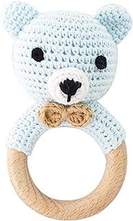 A0127 Baby Holz Beißring Ring Häkeln Koala Rassel Schnuller