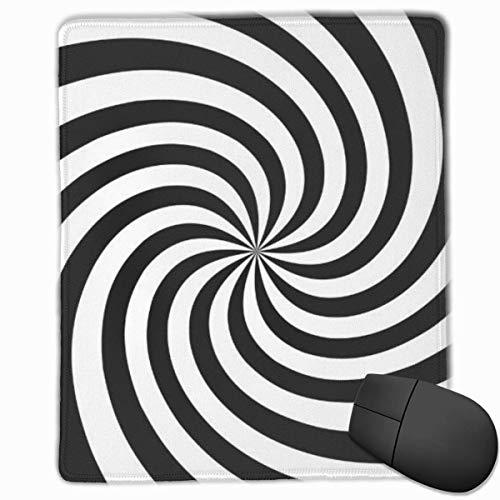 Mauspad Psychedelische Spirale mit radialen grauen Strahlen Wirbel Mauspad Rutschfestes Gaming Computer Notebook Mittleres Mauspad