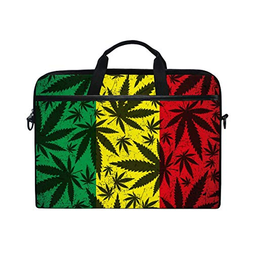 DOSHINE Laptop Bag Case Sleeve Marijuana Hemp Leaves Notebook Computer Bag for 14-14.5 inch Adjustable Shoulder Strap, Back to School Gifts for Men Women Boy Girls
