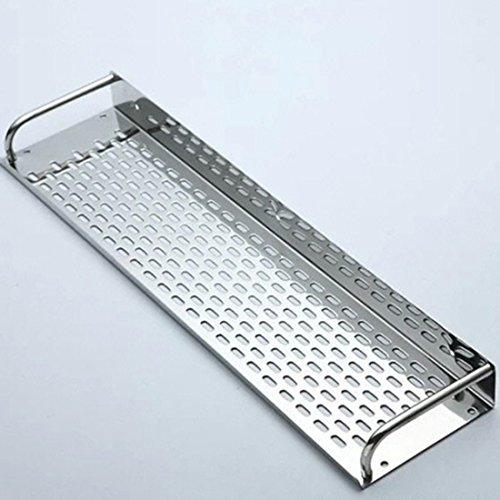 Foxom Acero Inoxidable Estante de Pared Estantería de Cocina baño Estante Pared Estante, 40* 12* 5cm