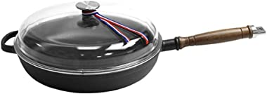 Cast Iron Frying Pan 28CM Frying Pan Physical Non-stick Pan Breakfast Pancakes Induction Cooker Gas Upgraded Version, High Bo