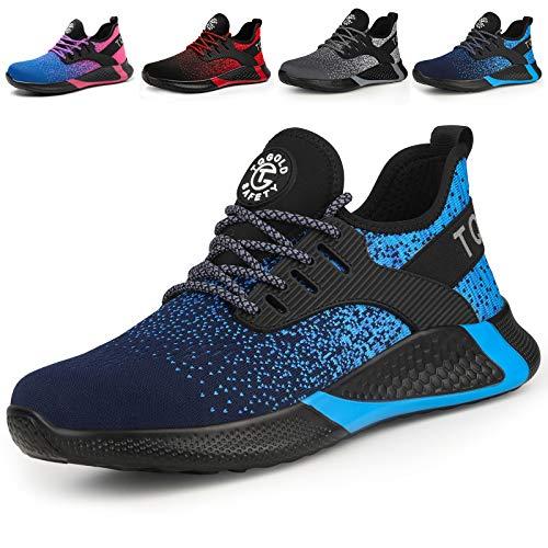 Chaussure de Securité Homme Femmes Légères S3 Embout Acier Basket Securite Chaussures de Sécurité Travail Protection Respirant Antidérapant
