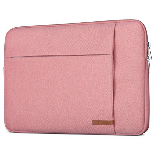 CASEZA Laptophülle 13-13.3 Zoll Pink London Laptop Sleeve Laptoptasche Hülle für ASUS Acer Surface Book Samsung Dell Toshiba UVM. - Notebook Tasche Wasserfest mit 2 Seitentaschen