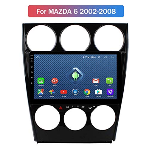 W-bgzsj DSP para Old Mazda 6 2002-2008 Coche Sat SETERE Stereo GPS Sistema de navegación por satélite Navegador Player Tracker Auto Radio Touchscreen Bluetooth (Color : 4G+WiFi:1+16G)