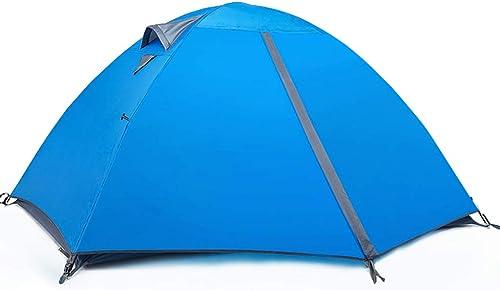 IDWOI-Tente Festival Tente 2 Hommes Imperméable Poids Léger Facile à Installer Et Package De Plein Air Anti Moustique Tente De Couple,Bleu