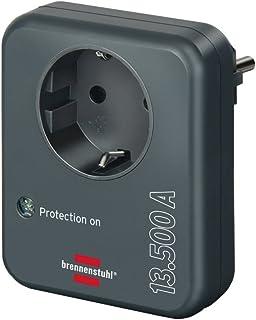 Brennenstuhl stekkeradapter, met overspanningsbeveiliging, 13.500 A, adapter als bliksembeveiliging voor elektrische appar...