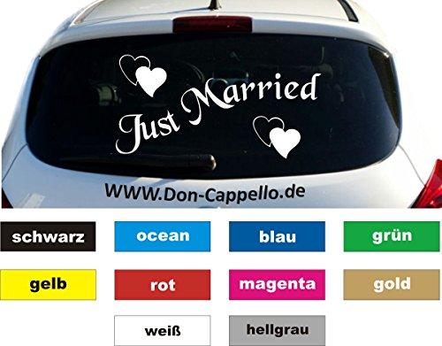 Just Married Auto Aufkleber Sticker Heckscheibe 13 x 26 cm