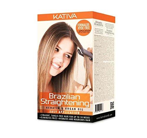KATIVA Keratin and Argan Oil Brazilian Straightening Kit