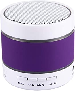 with Color Light, Support Handfree Call & TF Card & U-Disk & AUX Audio & FM Function & Earphone Out,Purple