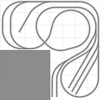 Layout #025 DCC Bachmann HO EZ Track (NS) Nickel Silver - 8' X 8' L-Shape NEW - Train Set