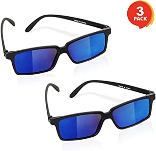 ArtCreativity Spy Glasses for Kids - Set of 3 - See Behind You Sunglasses with Rear View Mirrors - Fun Party Favors, Detective Gadgets, Secret Agent Costume Props, Gift Idea for Boys and Girls