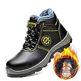 Zapatos de seguridad Zapatos de trabajo de seguridad de cordones de cuero para...