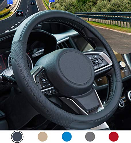 Multicolor Leo565Tom Couvre Volant Voiture Doux Peluche 38 cm /Épaissir Housse de Volant Voiture Universelle Respirant Antid/érapante et Absorption de Transpiration Inodore Steering Wheel Cover