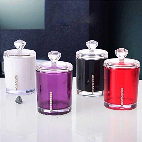 Da.Wa Coffres en Coton Acrylique Transparent Carrés Boîtes de Rangement cosmétiques Boîtes de Rangement pour Bureau