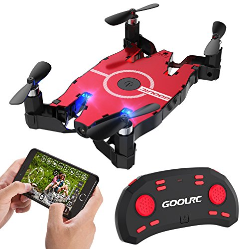 GoolRC T49 FPV Drone with WiFi Camera Live Video 2.4G 4 Channel 6 Axi Auto Foldable Arm Altitude Hold RC...