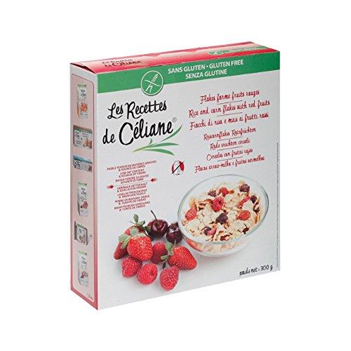 Céliane Les Recettes de Céliane Flakes Forme Fruits Rouges sans Gluten BIO 300 g