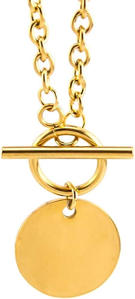 SWAOOS Women Choker Saint Long Men Necklace Gold Color Toggle Necklace Collares De Moda Boho Collier Gift