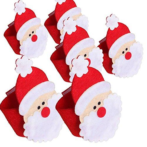 Steellwingsf - Servilletero de Papá Noel con servilleta para decoración de Mesa, Tela sin Tejer, Santa Claus