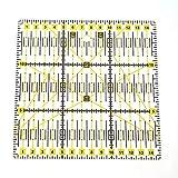 Demiawaking Righello Universale per Patchwork Regolo per Taglierino a Rotella DIY Strumenti di Cucito Righello da Sarto Trasparente Acrilico 15 x 15 cm