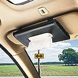 ZKONMEN Car Tissue Holder, Sun Visor Napkin Holder, Car Visor Tissue Holder, Premium Leather Backseat Tissue Case Holder for Car
