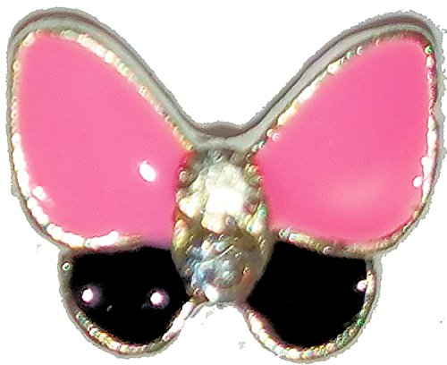 Superposition tendance au mehr, contenu : 4 pièces, # 60 Papillon Rose/Noir 7 x 7 mm