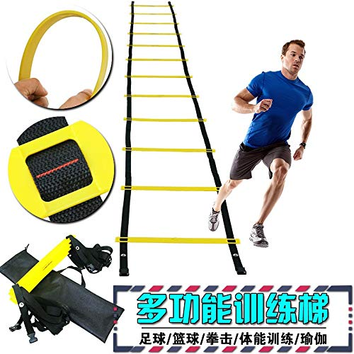 6 meter 236 Inch 12 Rung Verstelbare Footwork Agility Ladder for Soccer Speed ​​Voetbal Fitness Training Strength Coordination