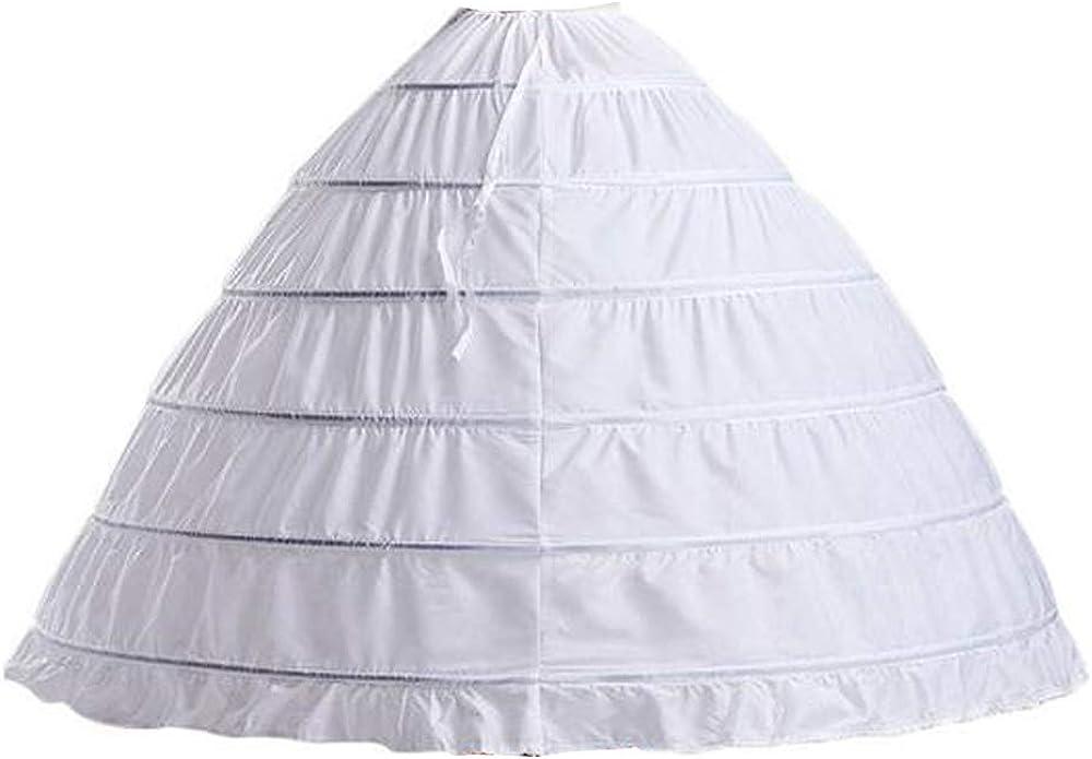 Ab.Mall Jupon de Mari/ée en Crinoline Petticoats Longue Crinoline Mariage Jupon 5 Cerceau mari/ée Jupon Robe de mari/ée Jupons