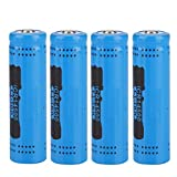 ASHATA 14500バッテリー 4PCS GIF 2800mAh各14500電池 環境に優しいリチウムリチウムイオン14500電池