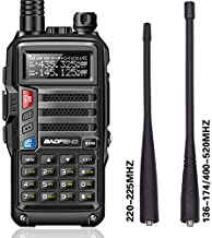 BaoFeng UV-9S Tri-Band 5W VHF,1.25M,UHF 136-174/220-225/400-520Mhz Extra 220 Antenna Portable Amateur Ham Two Way Radio (B...