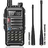 BaoFeng UV-9S Tri-Band with Extra Antenna Portable Amateur Ham Two Way Radio (Black)