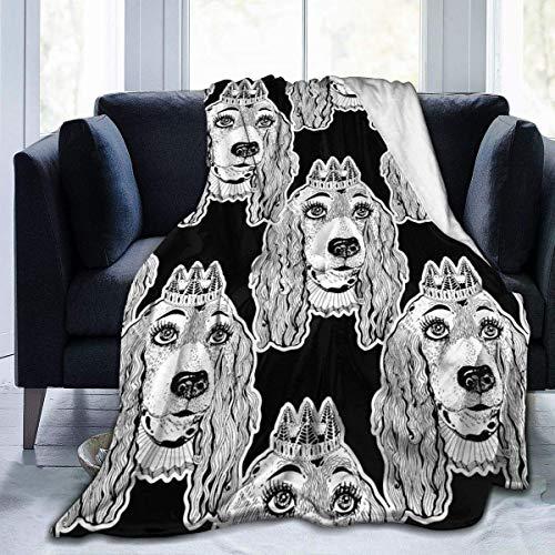 Wobuzhidaoshamingzi Spaans deken, pluizige deken, sprei, gezellige dekens voor kinderen, sofadeken, dik fleece