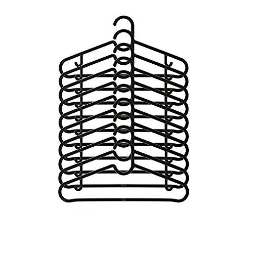 IKEA SPRUTTIG Kleiderbügel in schwarz; 60 Stück