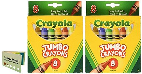 Crayons Jumbo 8ct Peggable Tuck Box [Set of 2] Includes 5 Color Flag Set