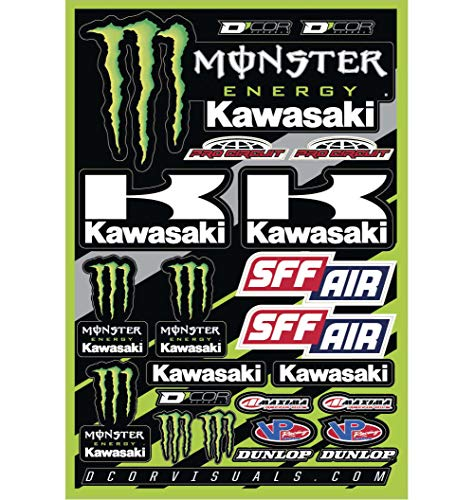 DCOR 40-20-116 Decal Sheet - Monster Kawasaki 2016